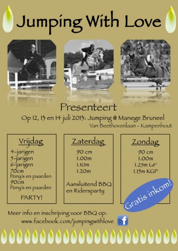 Dit weekend staat Jumping With Love en Hulsterlo op de kalender